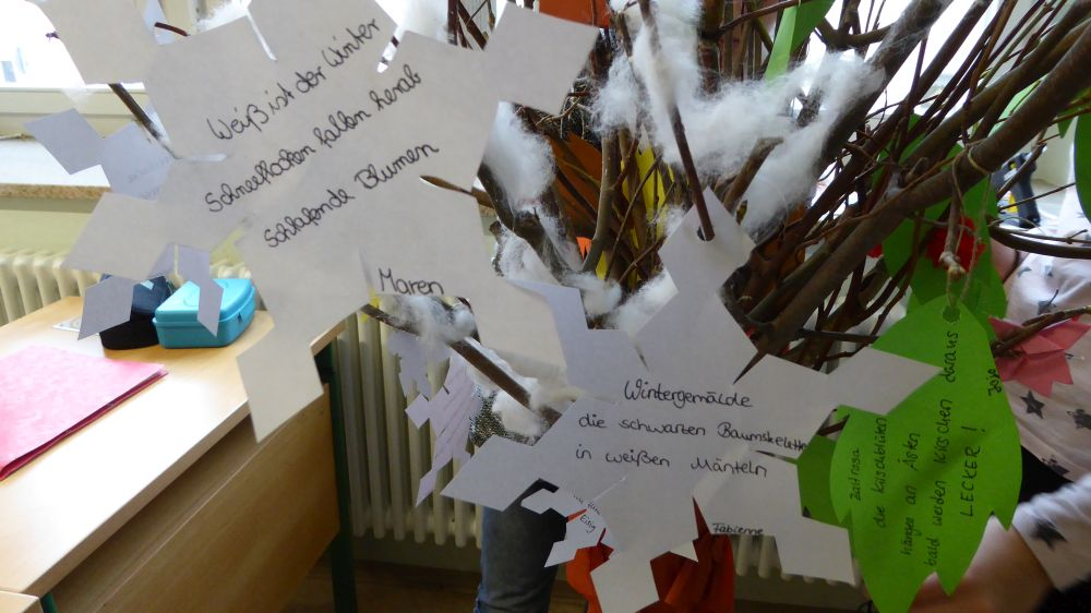 """Sie sehen Bilder des Artikels: Unser Projekt: """"Der Jahreszeitenbaum"""""""