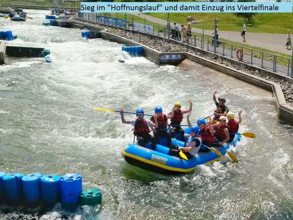 Sie sehen Bilder des Artikels:  Finale beim 8. MITGAS Schüler-Rafting